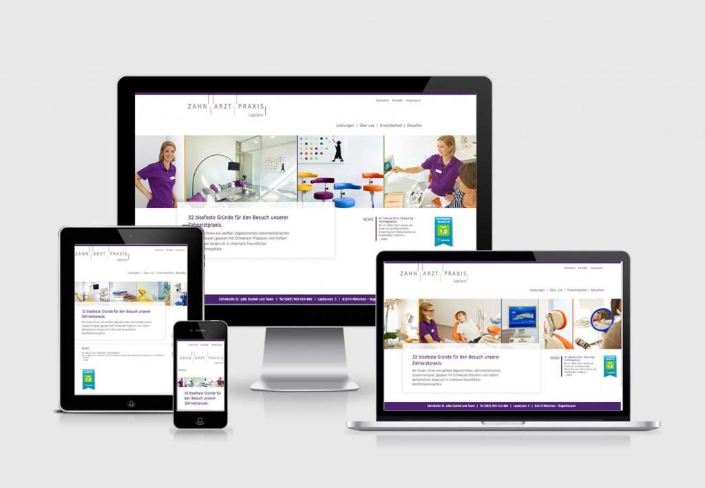 Zahnarztpraxis Laplace // Web Design